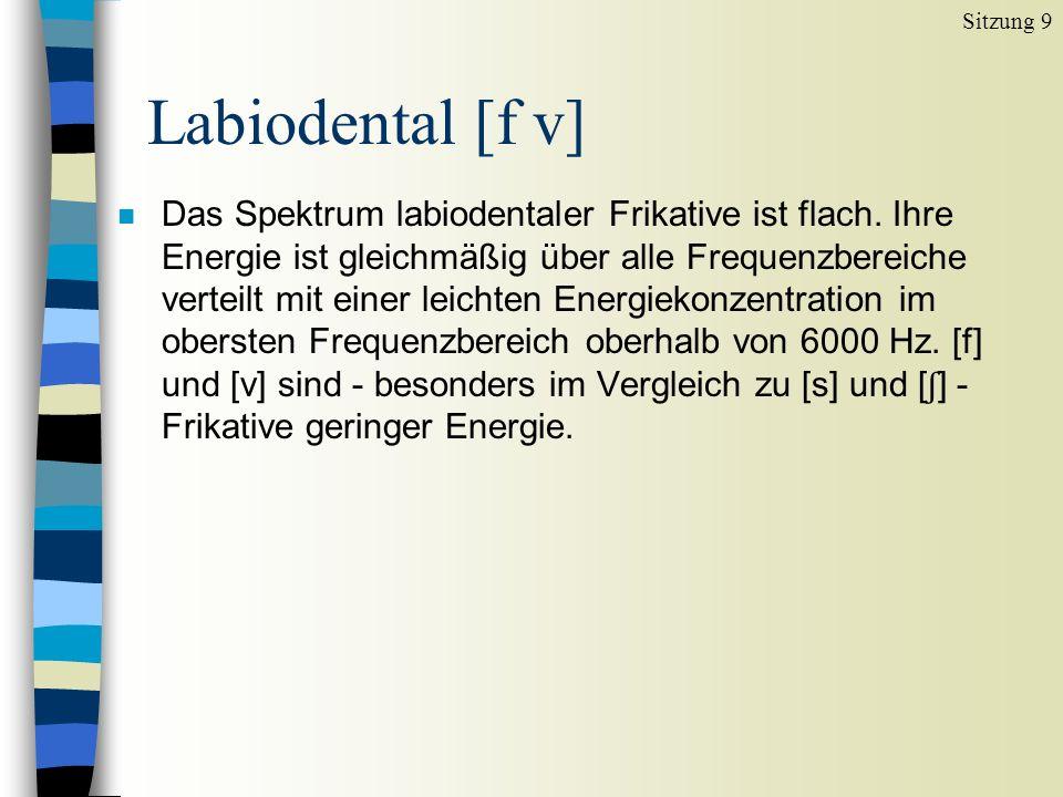Sitzung 9 Labiodental [f v]